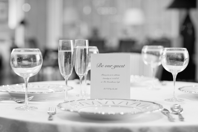 Invitation at Place Setting